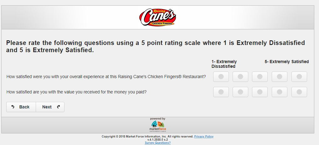 raising cane's sweepstakes