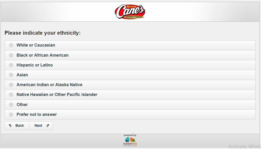 Customer Experience Survey | Raising Cane's | Chicken Fingers ...