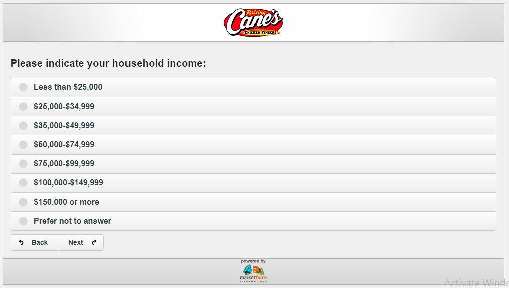 English - Raising Cane's Customer Satisfaction Survey - Market Force