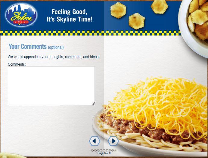 www.skylinefeedback.com - Skyline Chili Customer Satisfaction Survey