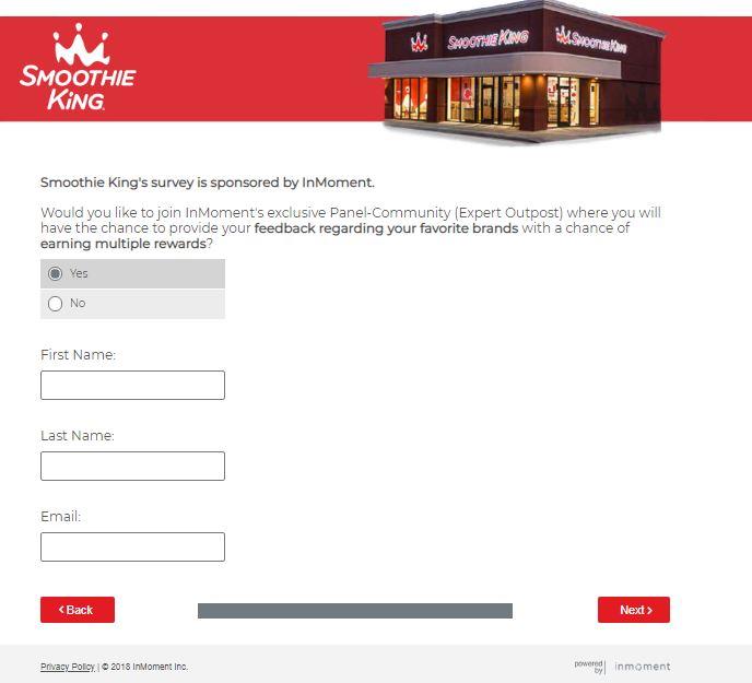 smoothie king survey