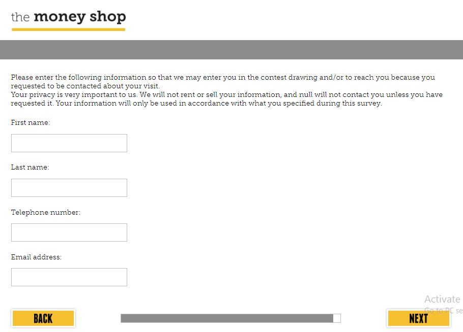 the money shop feedback