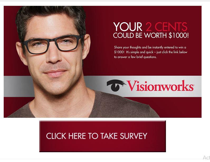 visionworks survey sweepstakes