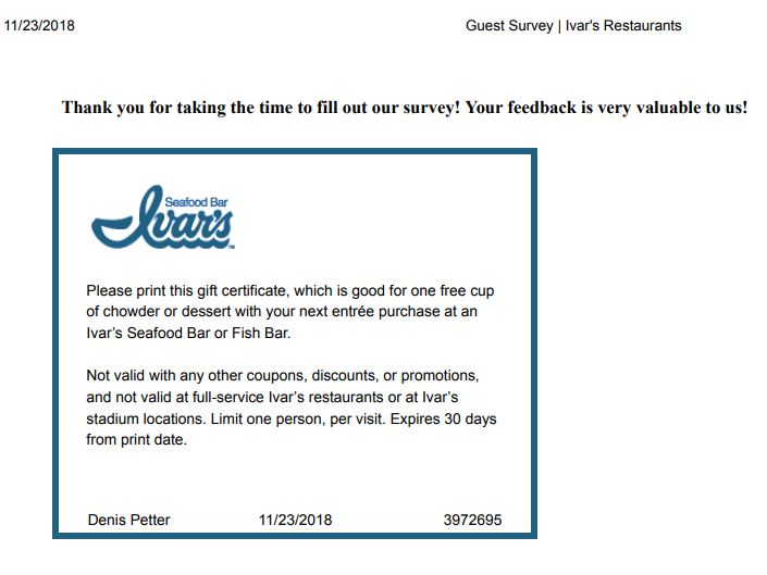 ivars coming to issaquah
