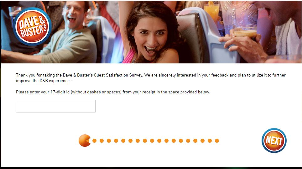 Dave and Buster's Guest Satisfaction Survey - www.dandb-survey.com