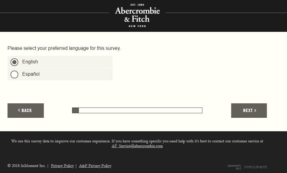 abercrombie survey website