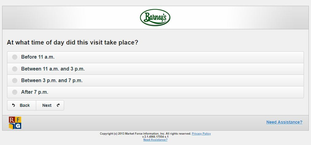 barneys survey