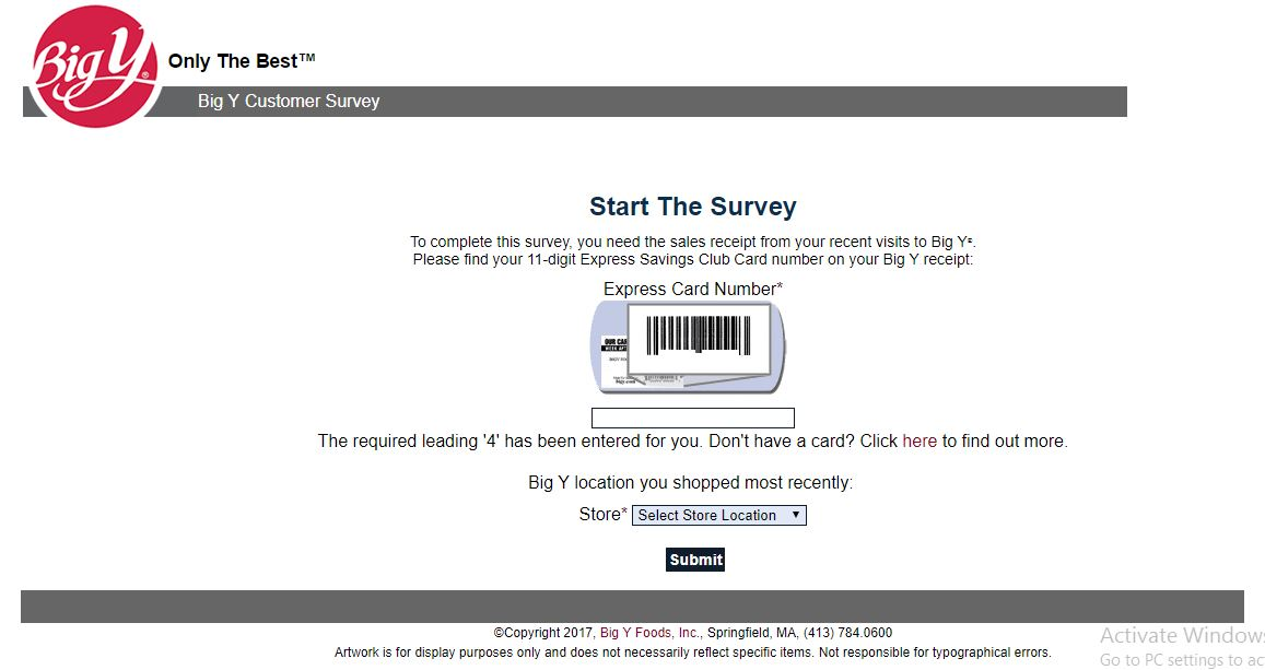 Big Y Customer Satisfaction Survey |