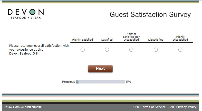 Devon Seafood Grill Guest Satisfaction Survey, www.devonfeedback ...
