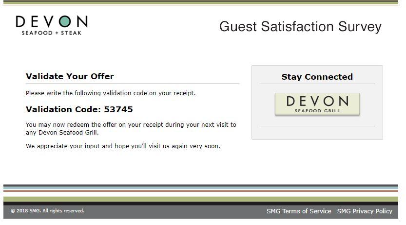 www.devonfeedback.com - Devon Seafood Grill Guest Satisfaction ...