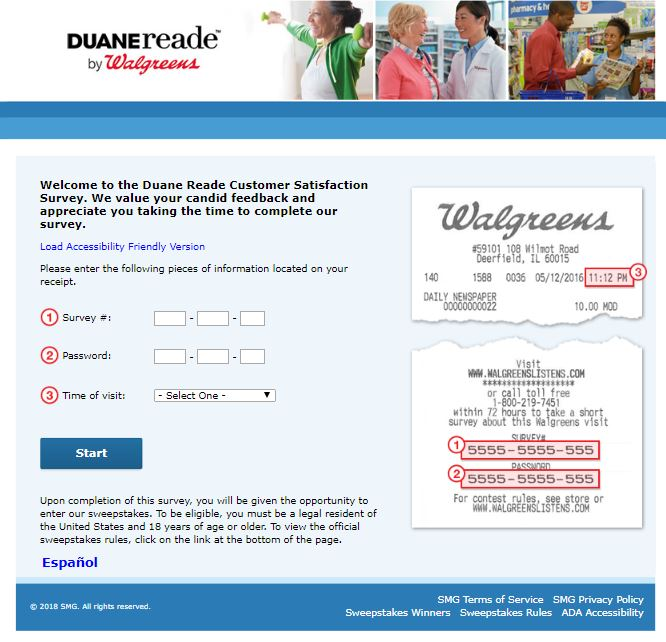 Duane Reade Customer Satisfaction Survey