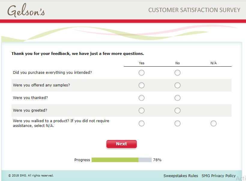 gelson's survey