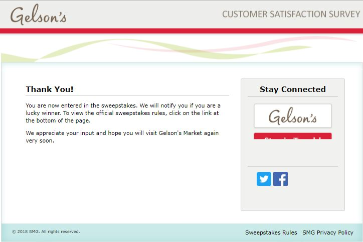 Talktogelsons.smg.com website. Gelson's Market Customer ...