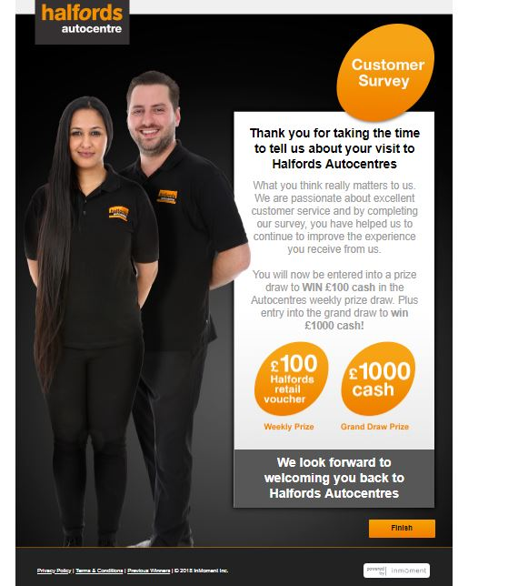 halfords autocentre survey