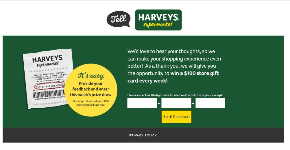 Harveys Guest Satisfaction Survey