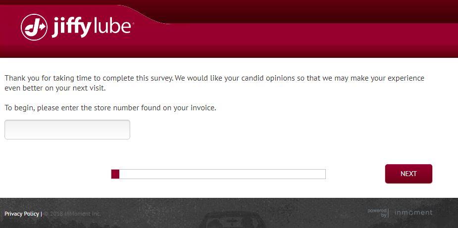 Jiffy Lube Customer Satisfaction Survey