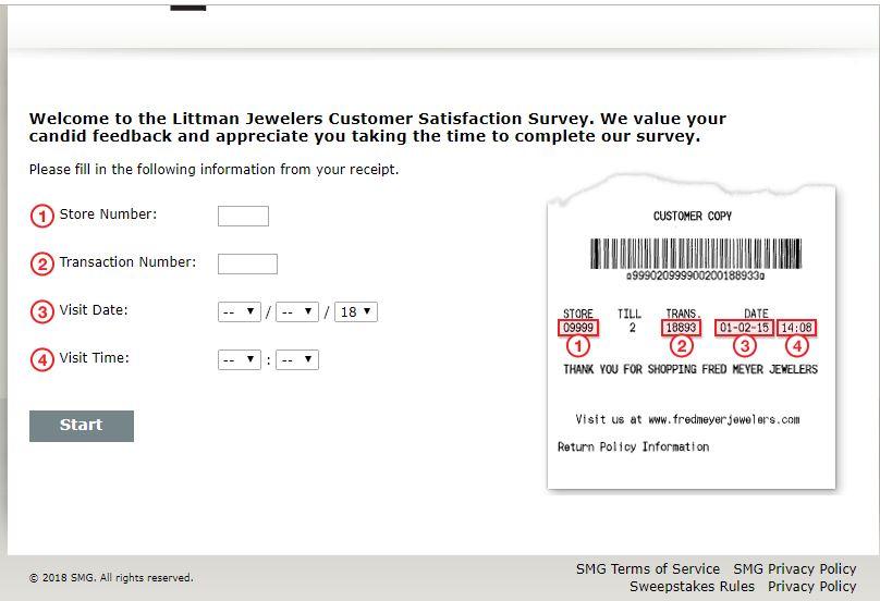 Give Littman Jewelers Feedback in Survey  