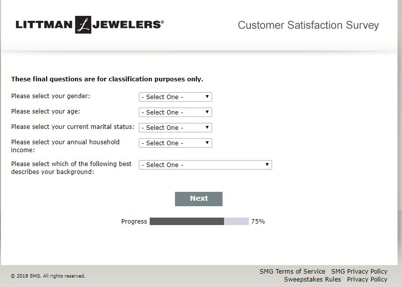 Join Littman Jewelers Customer Satisfaction Survey | Loyce Reiber's ...