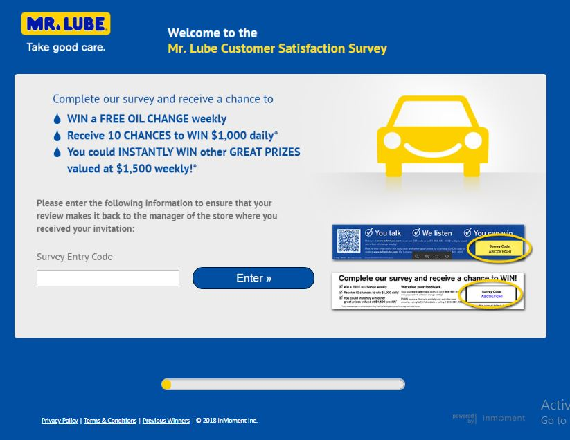 www.tellmrlube.com Mr. Lube Customer Satisfaction Survey $1000 Cash