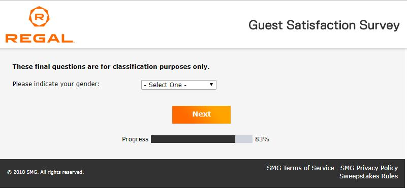 Regal Guest Satisfaction Survey -