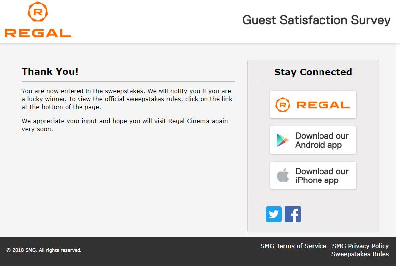 Regal Entertainment Survey - www.talktoregal.com - Customer Survey ...