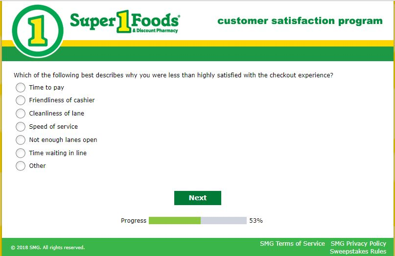Super 1 Customer Satisfaction Survey -