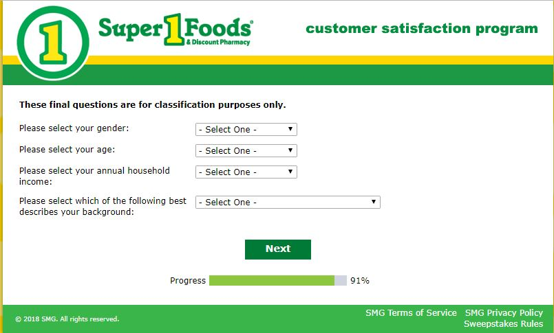www.super1foodsfeedback.smg.com | Super One Foods Survey – Win ...