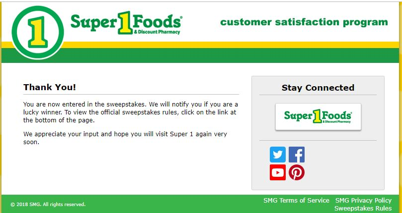 $25,000 Sweepstakes | Super One Foods