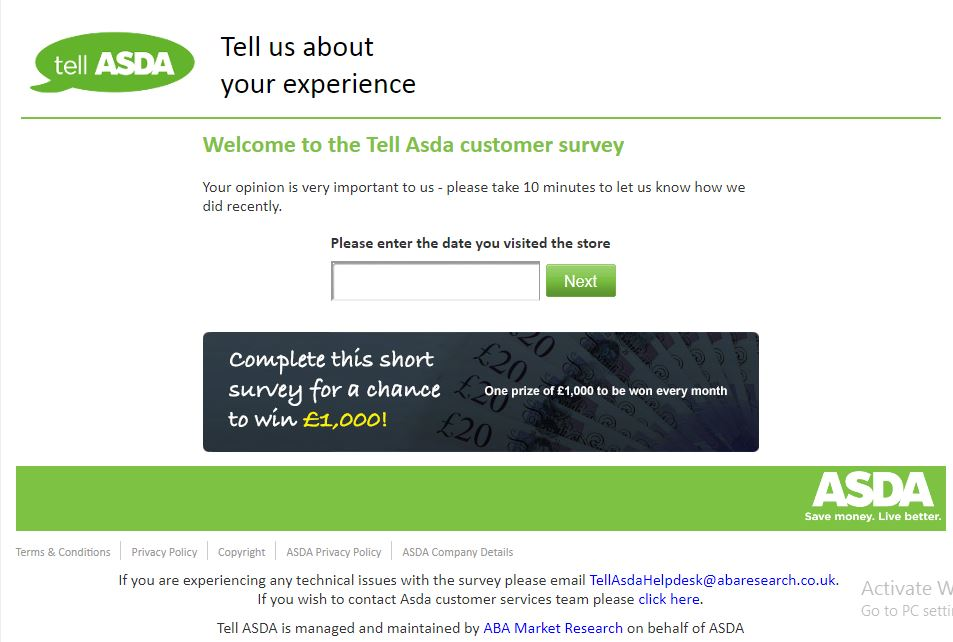 Asda Survey £1000 monthly - Google Groups
