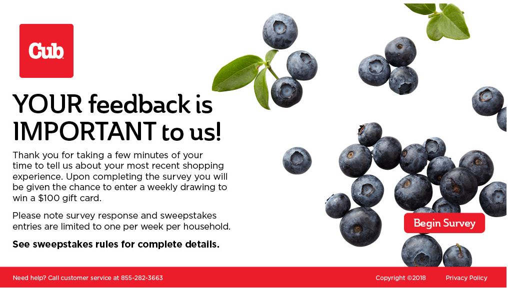 Win $100 gift cards in Cub Foods Survey Sweepstakes ...