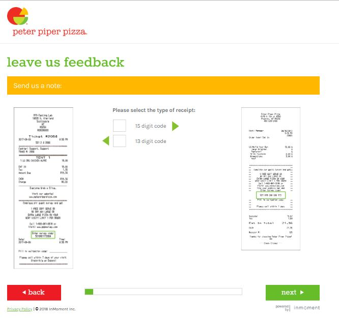 Peter Piper Pizza Survey - www.pppsurvey.comCustomer Survey Report