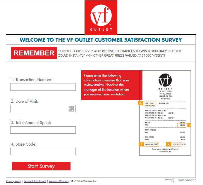 www.vfoutletfeedback.com - Participate in the VF Outlet survey and .