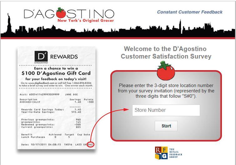 dagfeedback.com – D'Agostino Feedback Survey - dougstanton