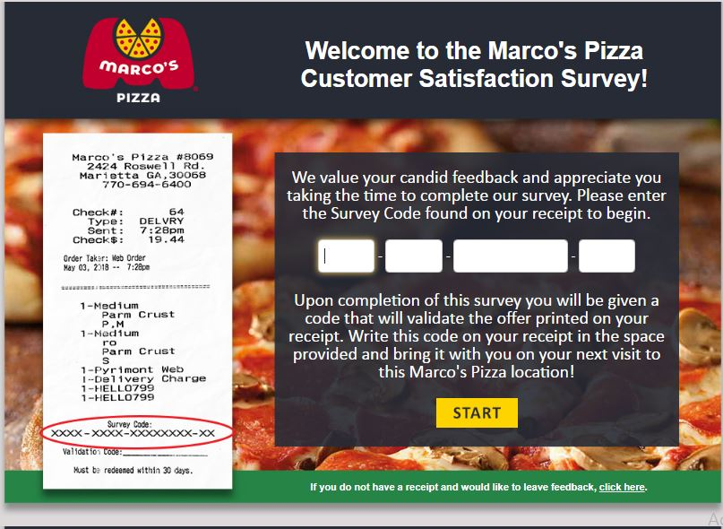 Marco's Pizza Customer Satisfaction Survey -
