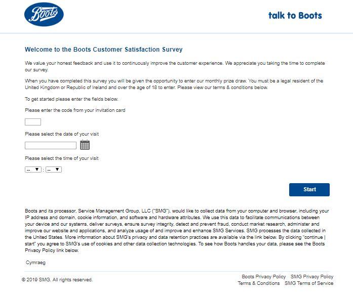 Boots Customer Satisfaction Survey - Talktoboots.com