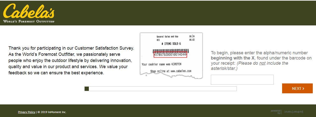 Cabelas.com/RetailSurvey - Cabelas Survey (START NOW) - GotCredit