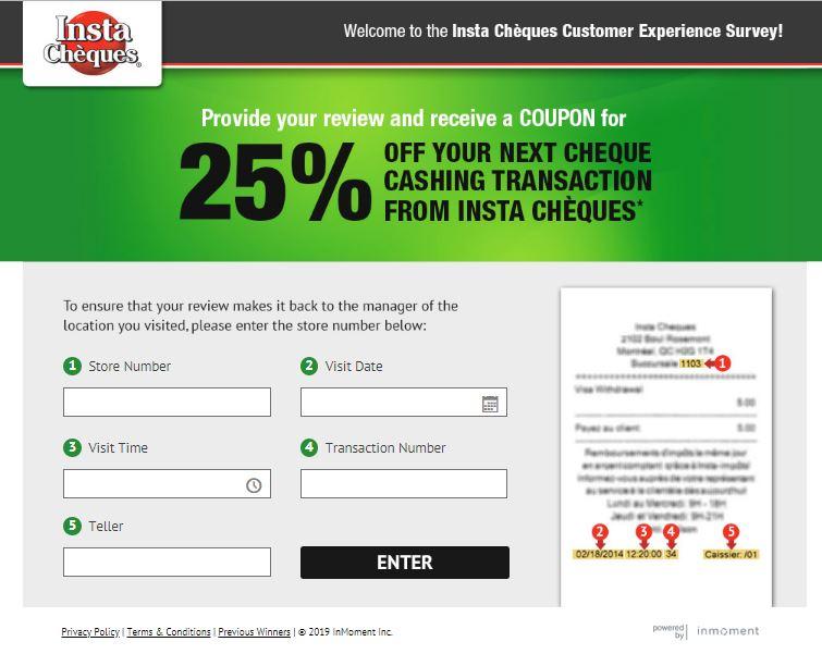 Insta Cheques Customer Experience Survey - alloutblog