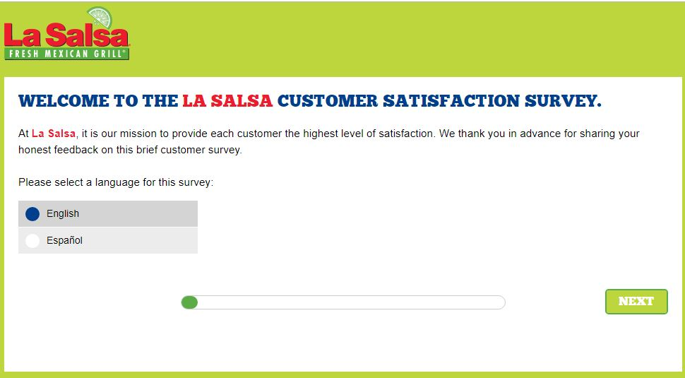 www.lasalsasurvey.com - La Salsa Customer Survey