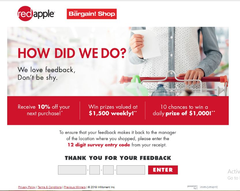 Tell Red Apple Feedback in Survey and Win $1000 daily, $1500 ...