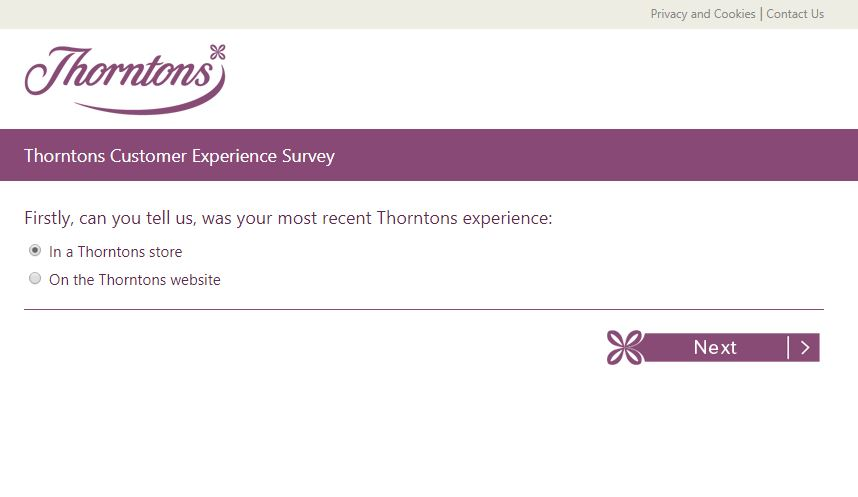 Thorntons Customer Experience Survey - survey.thorntons.co.uk | 2018