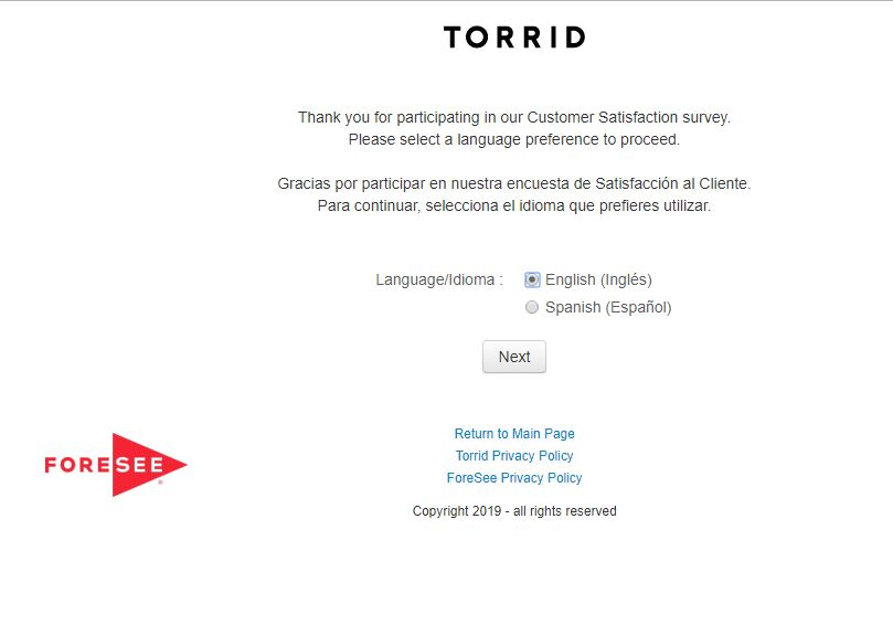 torrid survey @www.torrid.com/suvey - Save Mart Rewards Survey