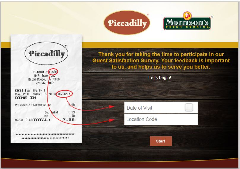 Piccadilly Survey at Piccadilly.com Win $100 to $1500 cash!!