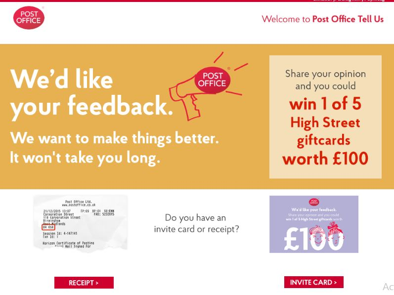 post office tell us customer survey