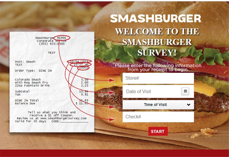 Welcome to the Smashburger Survey!