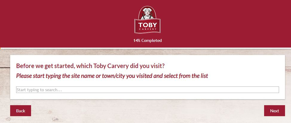 toby carvery guest feedback