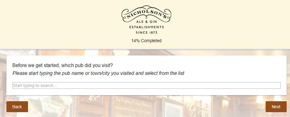 Nicholson's Pub Guest Experience Survey - www ...