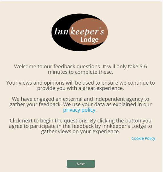Innkeeper's Lodge Guest Experience Survey