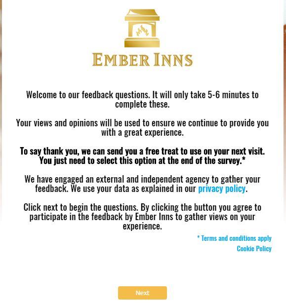 Ember Inns Guest Satisfaction Survey