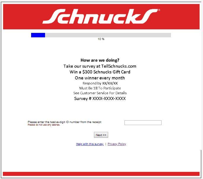 www.schnucks.pleaserateus.com - Schnucks Customer Satisfaction ...