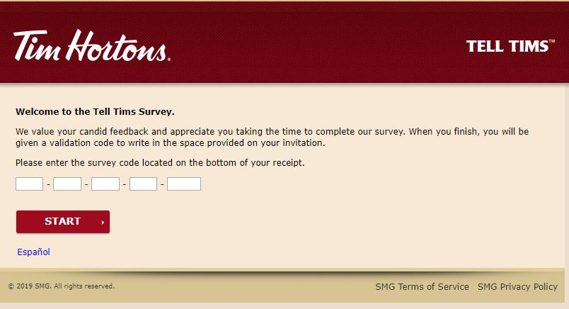 Tim Hortons Customer Satisfaction Survey